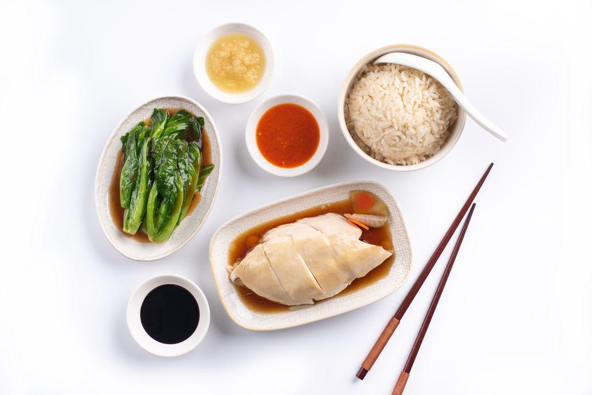 The traditional Hainanese chicken rice at Boon Tong Kee.