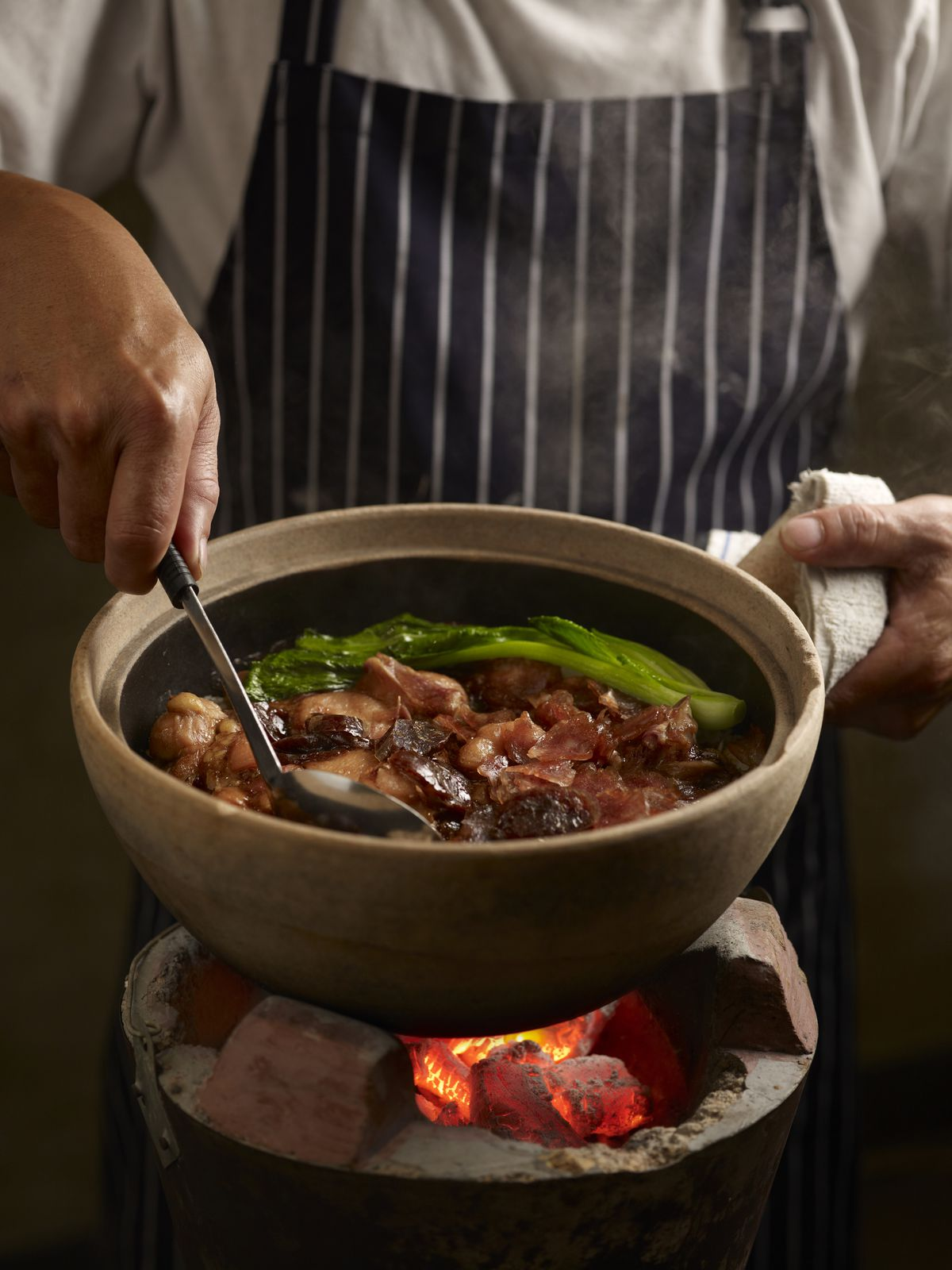 Geylang Claypot Rice serves Southeast Asian rice dishes cooked in traditional claypots.