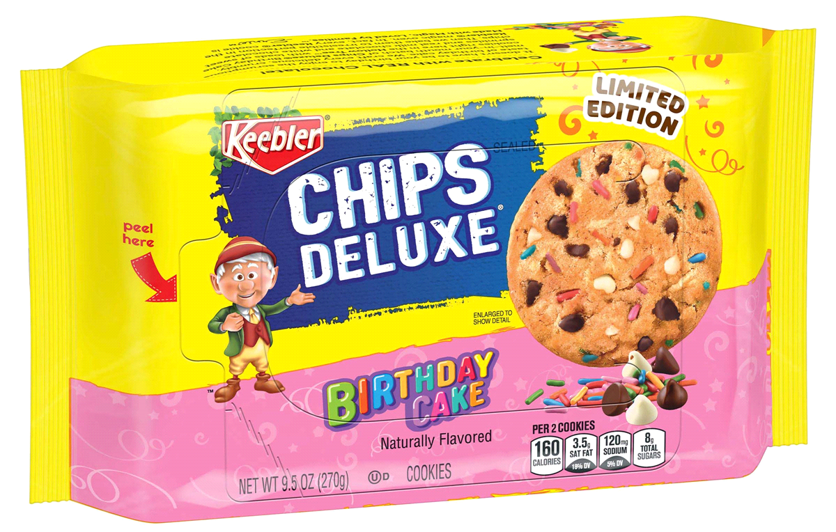 Chips deluxe birthday cake cookies from Keebler