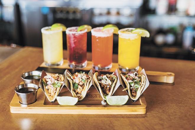 Add tacos to your marg flight at De Leon's Taco & Bar. - COURTESY PHOTO
