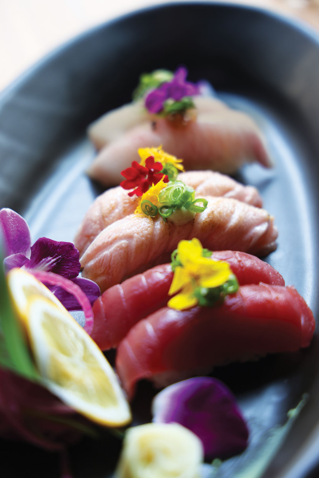 Kojo serves a variety of sushi, as well as other Japanese dishes.