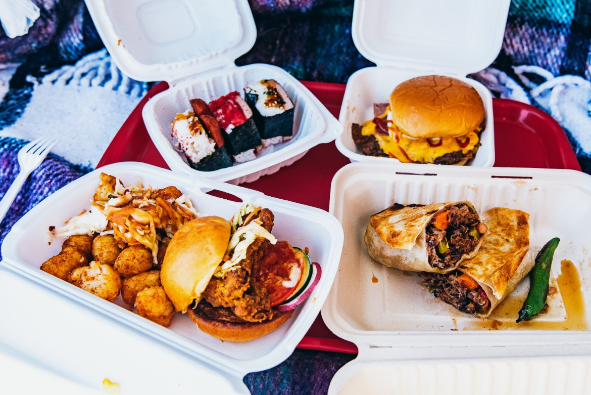 Photo of the final dishes from vendors at first location