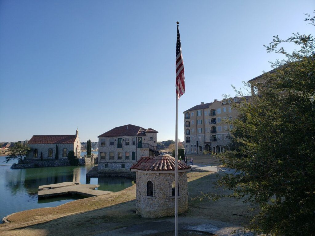 Adriatica Village in McKinney, Texas.