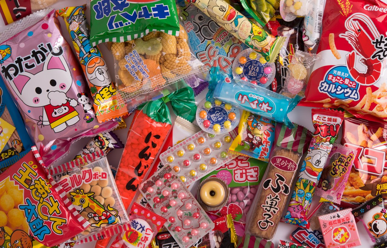 Tokyo, Japan - March 17th 2016: Different japanese sweets and