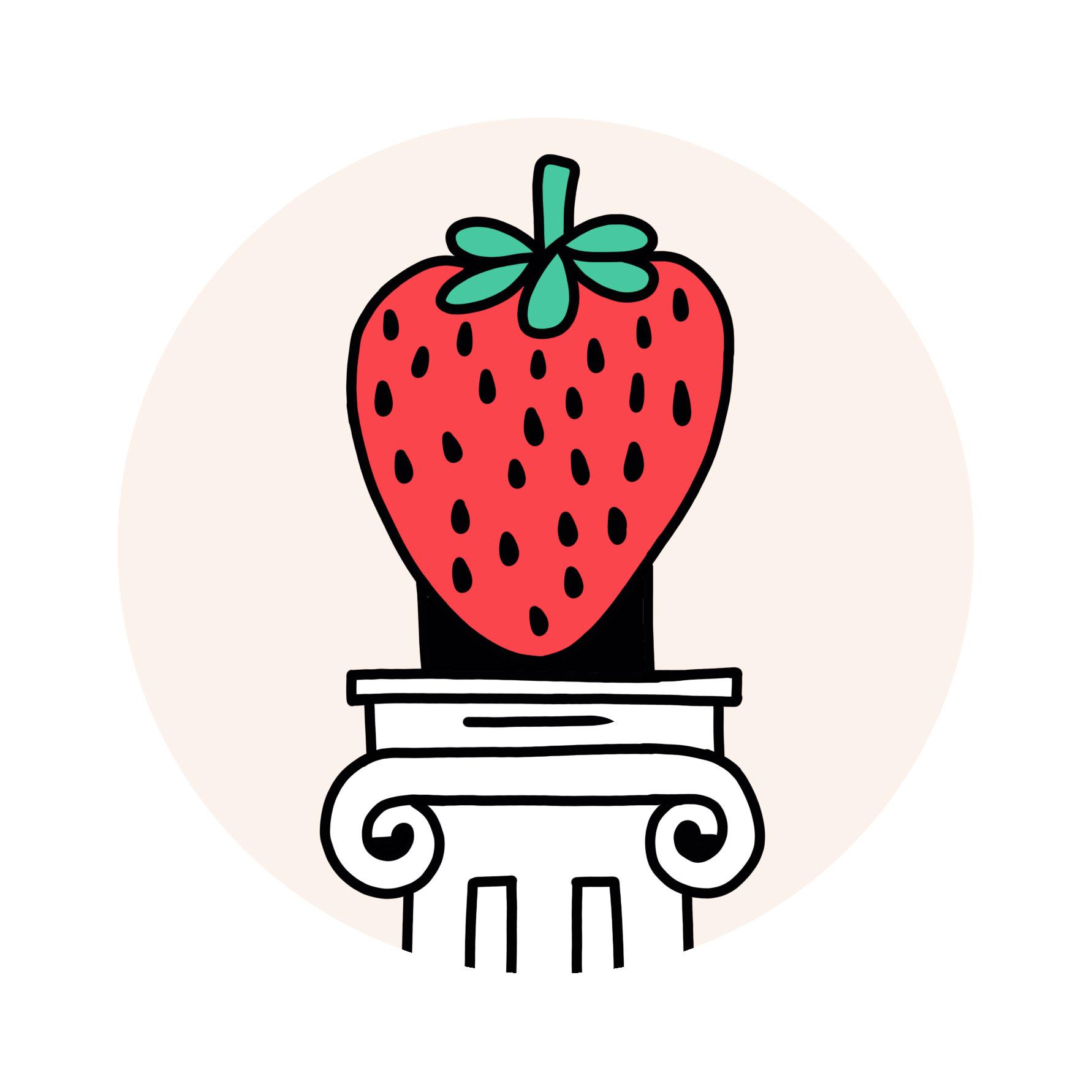 Oishii Strawberry illustration