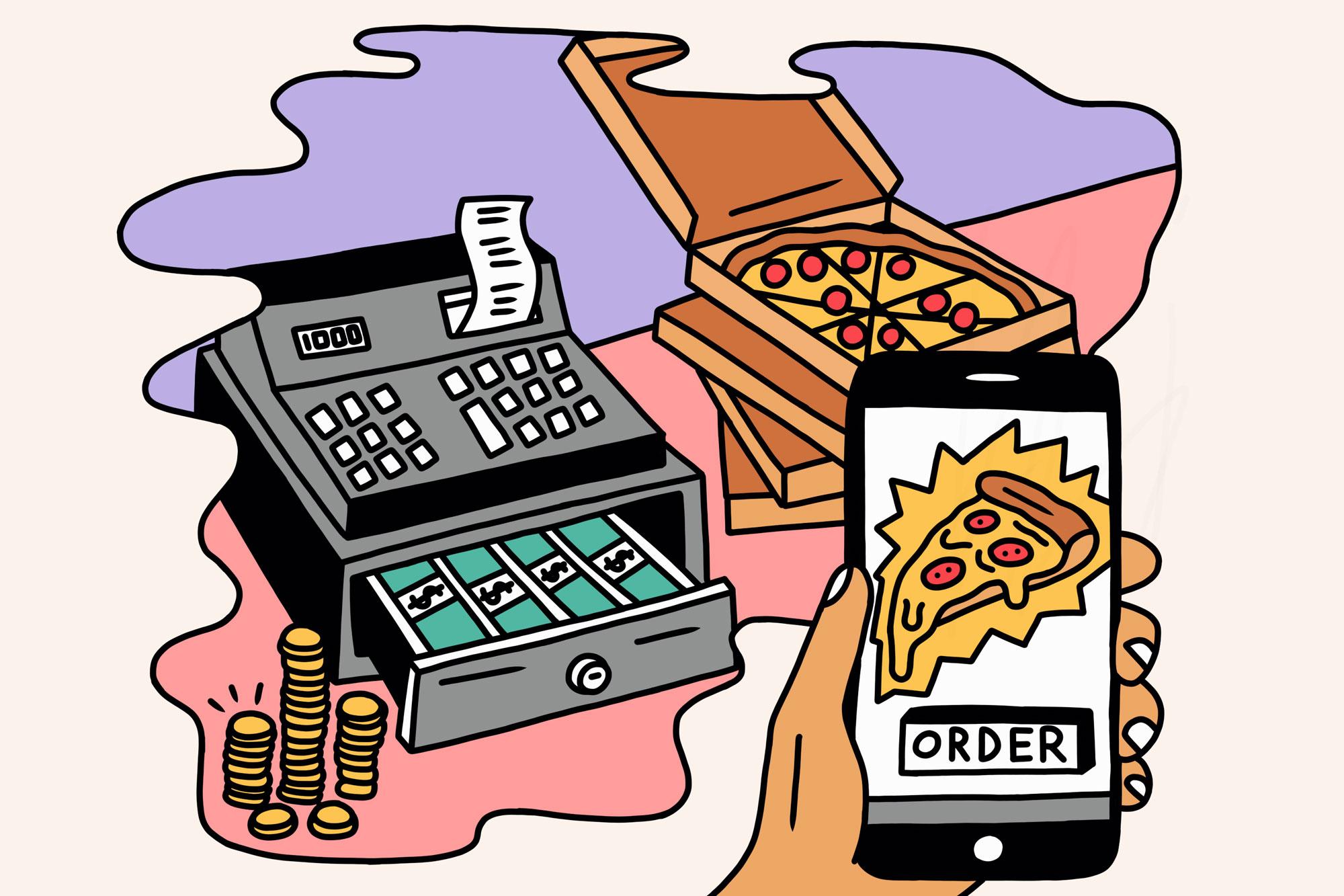 food delivery app illustration
