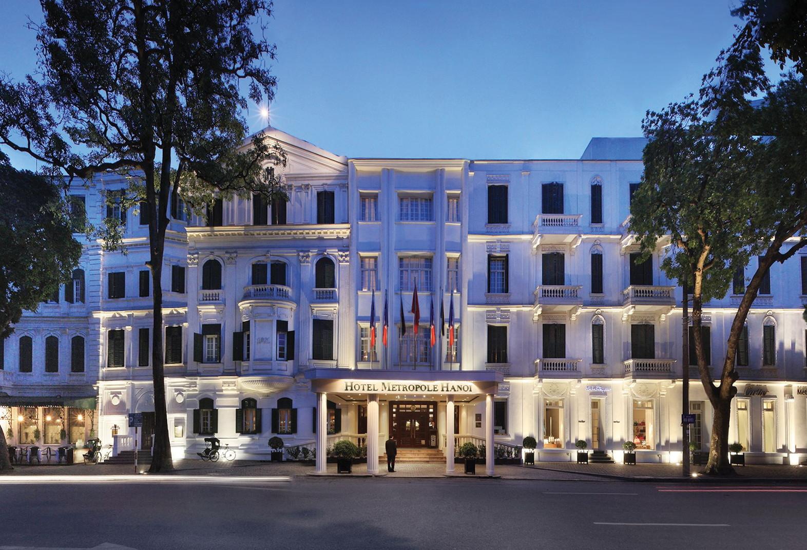 The facade of Sofitel Legend Metropole in Hanoi. Photo courtesy of the hotel.