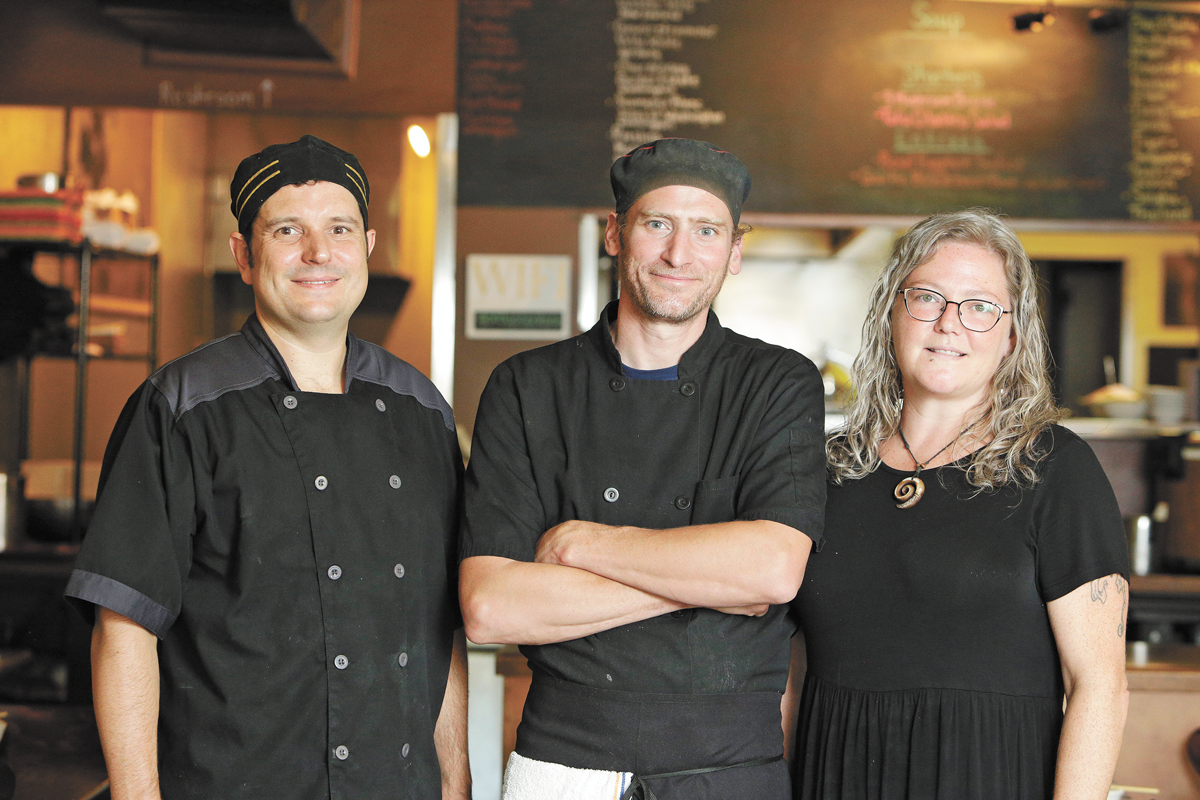 FROM LEFT: Chef and co-owner Dan Burns, chef and co-owner Casey Riendeau, and manager and co-owner Leigh Riendeau. - YOUNG KWAK PHOTO